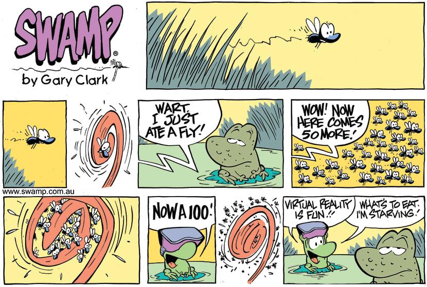 Swamp Cartoon - Mort Frog Virtual Reality ComicMay 28, 2017