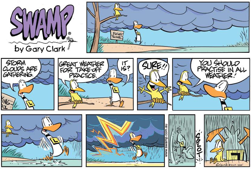 Swamp Cartoon - Great Weather Take-off PracticeOctober 20, 2019