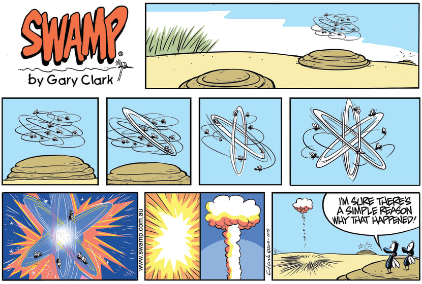 Swamp Cartoon - Flies Create Atomic ExplosionJanuary 12, 2020