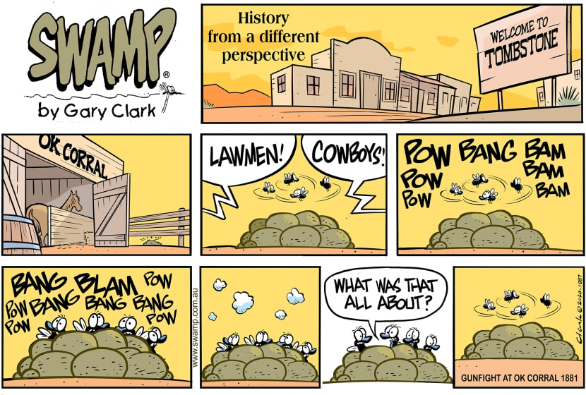 Swamp Cartoon - History from Flies PerspectiveMarch 8, 2020
