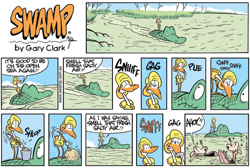 Swamp Cartoon - Old Man Croc Open OceanApril 5, 2020