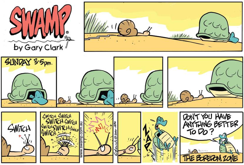 Swamp Cartoon - Turtle Sunday Afternoon NapApril 26, 2020