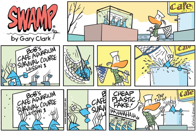 Swamp Cartoon - Bob Crayfish Survival CourseJune 21, 2020