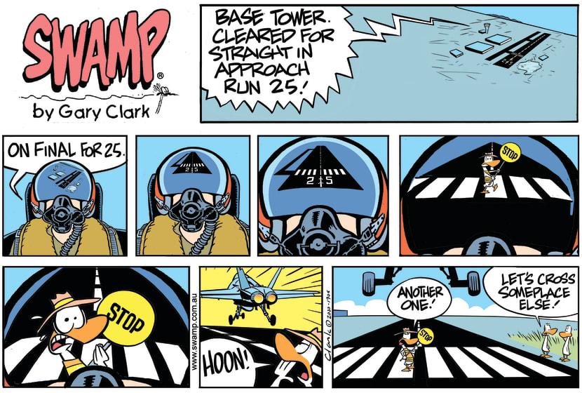 Swamp Cartoon - Approach Runway 25July 5, 2020