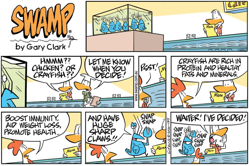 Swamp Cartoon - Crayfish Rich in ProteinSeptember 6, 2020