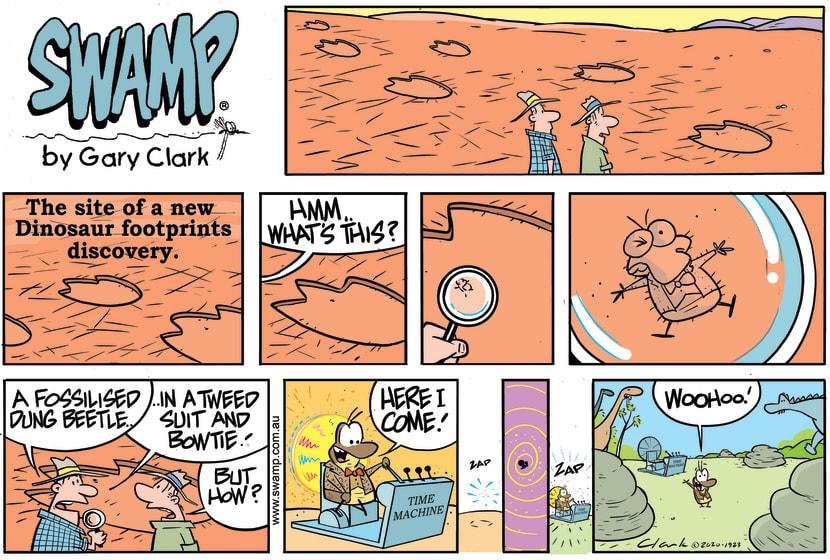 Swamp Cartoon - Dung Beetle Time MachineNovember 1, 2020