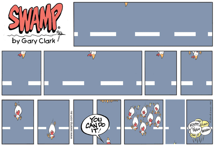 Swamp Cartoon - Can the Chickens Cross The Road?November 15, 2020