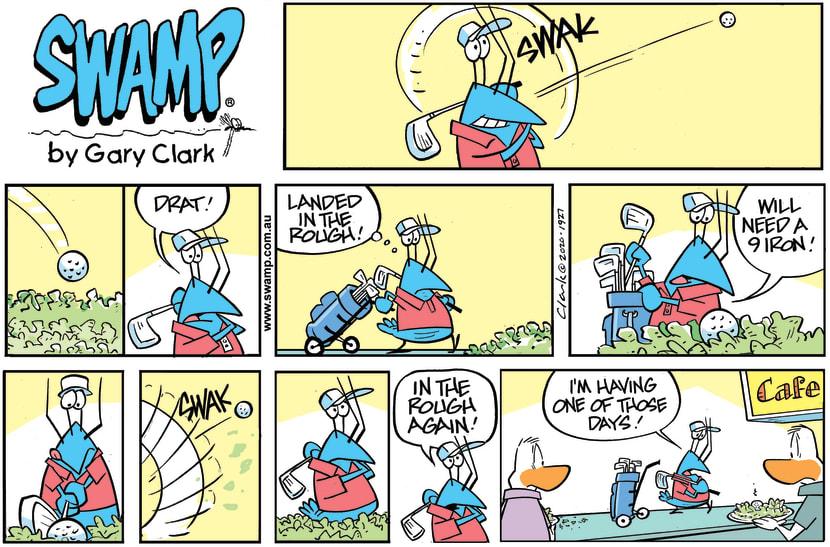 Swamp Cartoon - Bob Crayfish Golf GameNovember 29, 2020