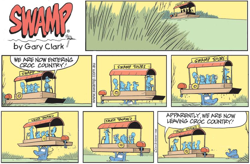 Swamp Cartoon - Swamp Tour Boat Enters Croc CountryDecember 6, 2020