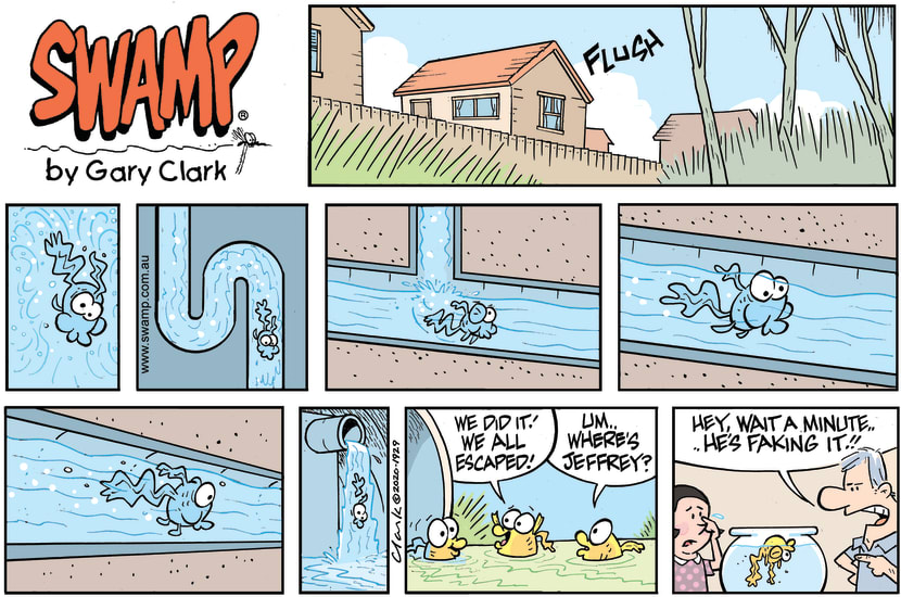 Swamp Cartoon - The Great Drain Pipe EscapeDecember 13, 2020