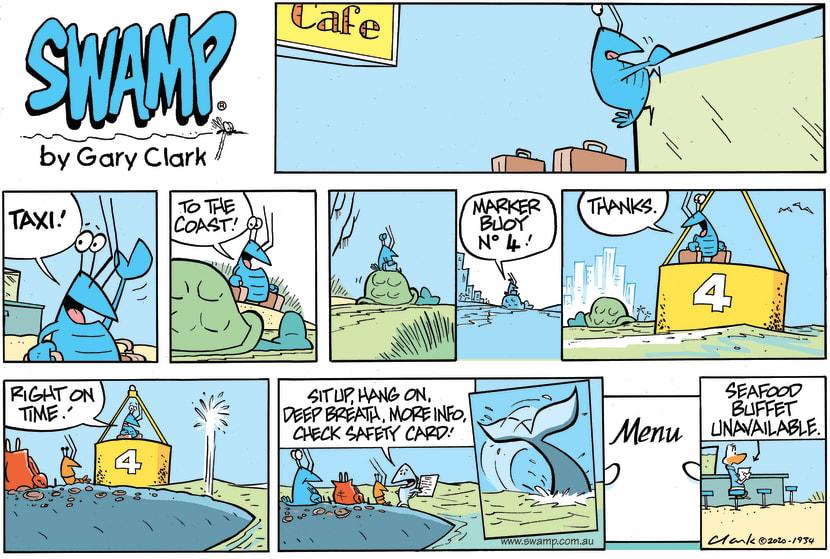 Swamp Cartoon - Bob Crayfish Whale of a TimeJanuary 31, 2021