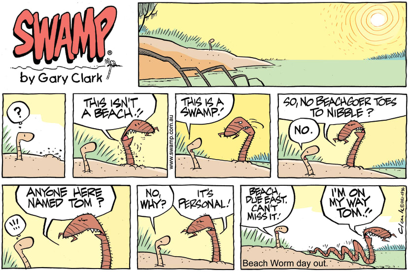 Swamp Cartoon - Beach Worm on a MissionFebruary 14, 2021