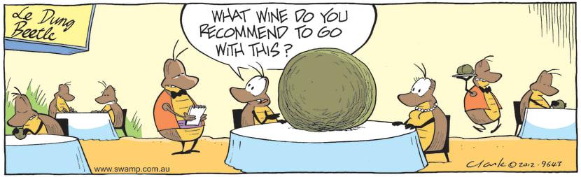 Swamp Cartoon - Dung Beetle Dinner DateApril 5, 2021