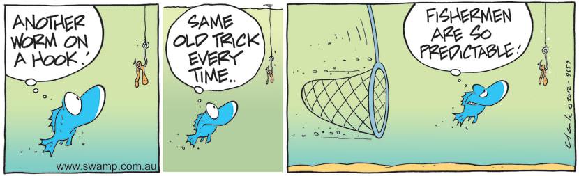 Swamp Cartoon - Another Worm on HookApril 10, 2021