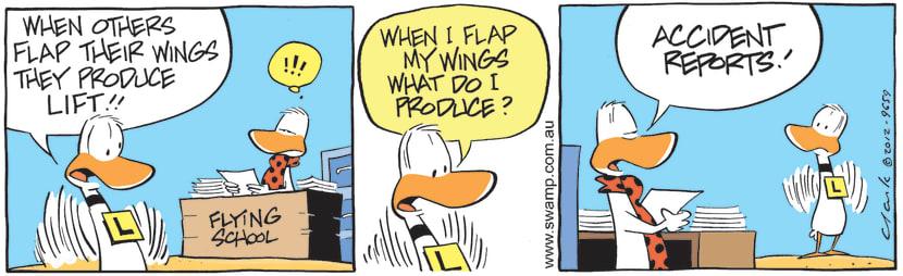 Swamp Cartoon - Flap Wings For LiftApril 12, 2021