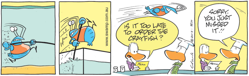 Swamp Cartoon - Too Late to Order CrayfishApril 15, 2021