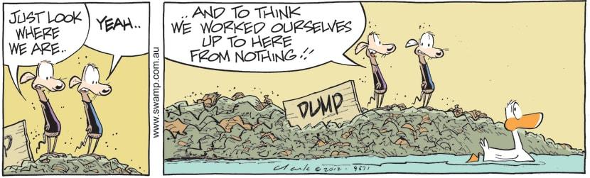 Swamp Cartoon - Life's AchievementsApril 16, 2021