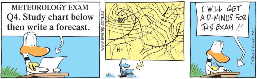 Swamp Cartoon - Study Meteorology ChartApril 19, 2021