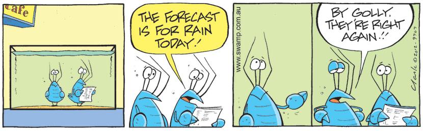 Swamp Cartoon - Bob Crayfish Rain ComingApril 28, 2021
