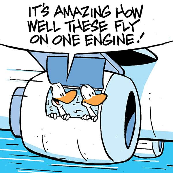Aviator Ducks Jet Engine