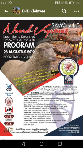 livestock auction listing Noord-Vrystaat Veiling