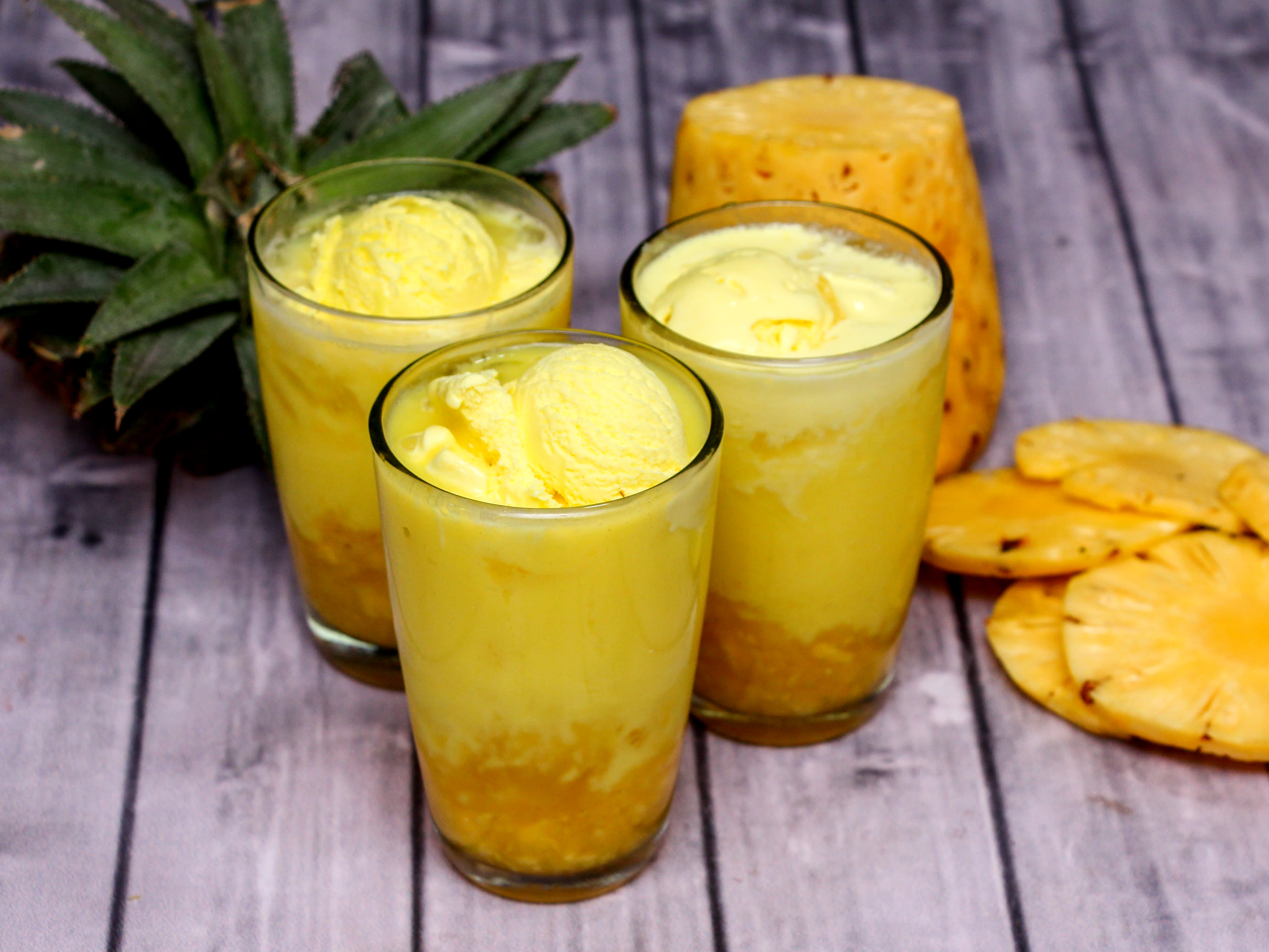 Pineapple Ice-cream Juice
