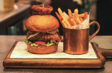 Beer Battered Fish Burger at Smokehouse Deli