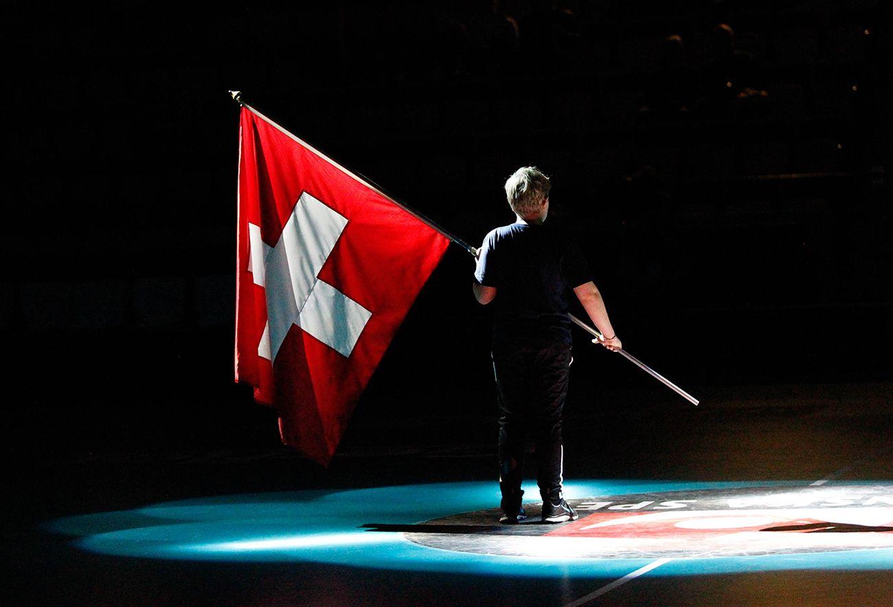 Schweizer Fahne U19-WM