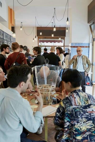 Martina Huyhn, *Basic Income Café* - © photo © Nicole Marnati, Swiss Design Awards Blog