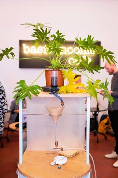 *Basic Income Cafe Opening* - © photo © Sabine Rovers, Swiss Design Awards Blog