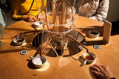 *Basic Income Café* - © photo © Iris Rijskamp, Swiss Design Awards Blog