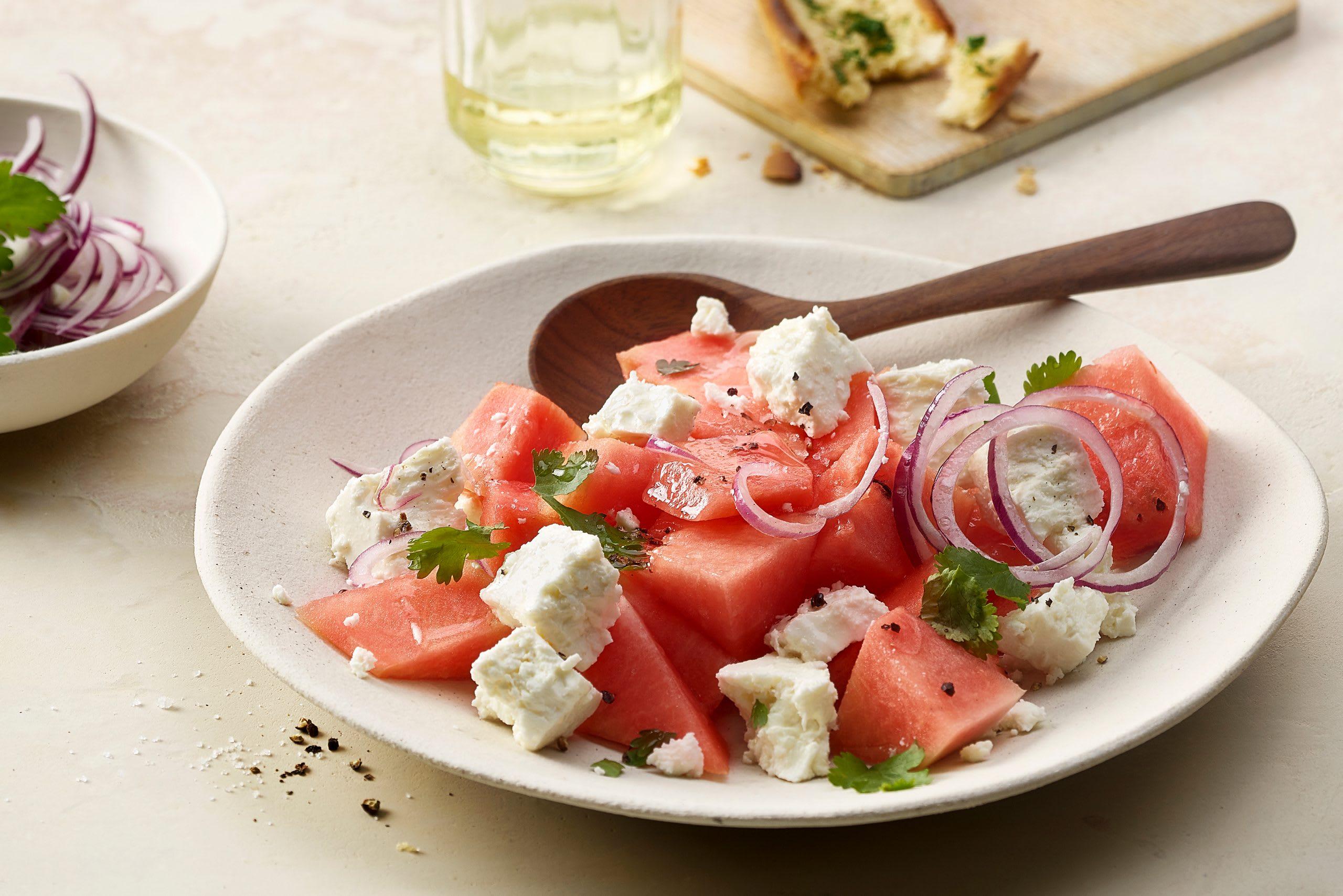 Salade de pastèque et de fromage frais