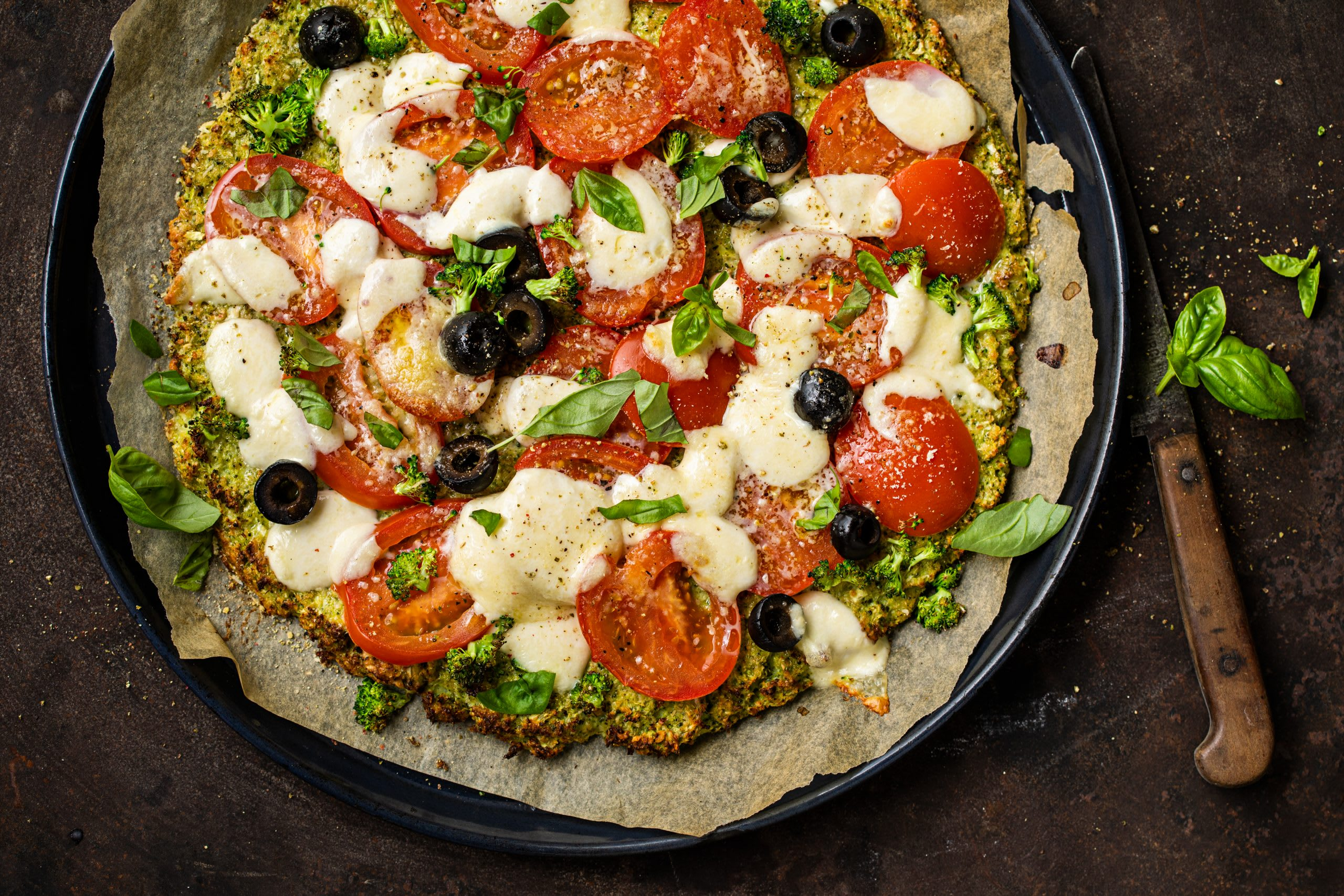 Broccoli-Pizza (Low Carb)