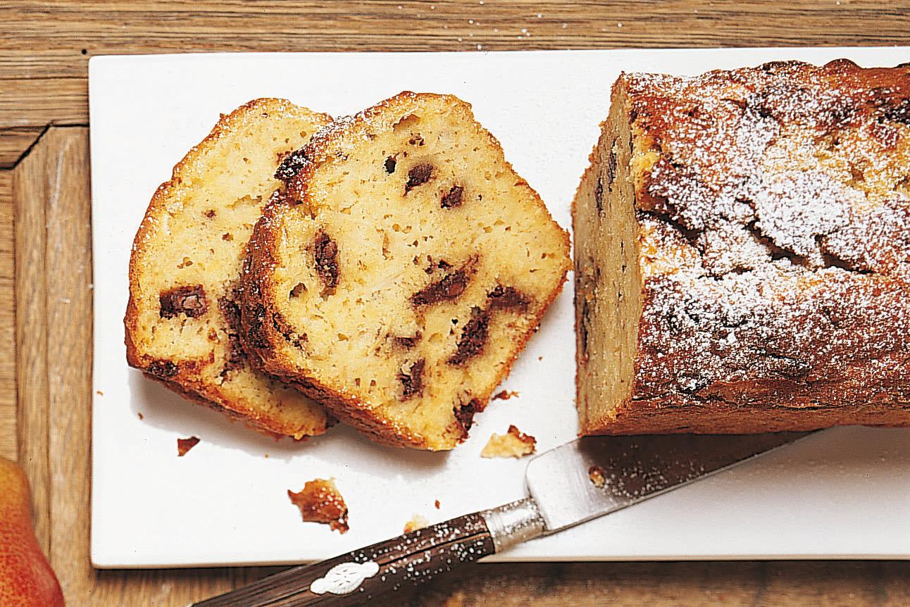 Cake aux pommes, poires et chocolat