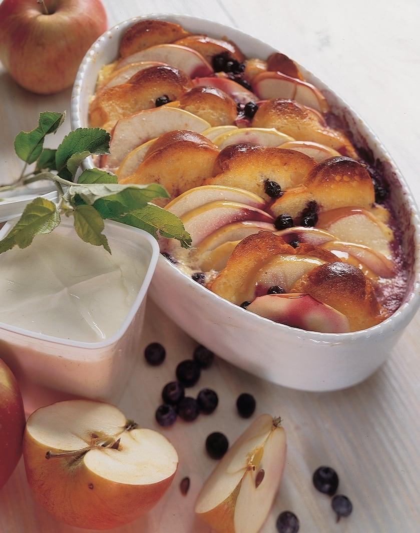 Apfel-Heidelbeer-Auflauf