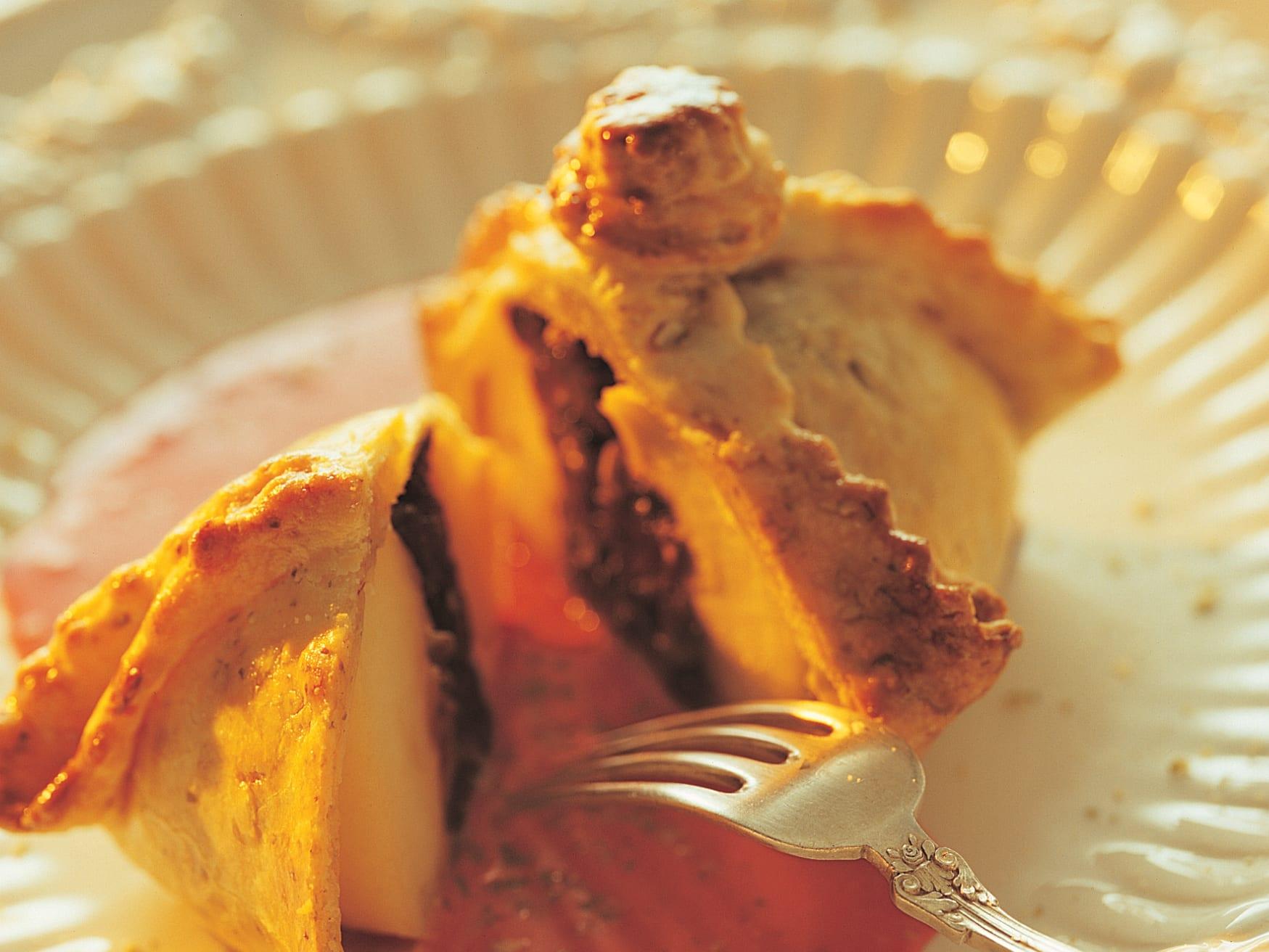 Apfel im Kürbisrock mit Randensauce