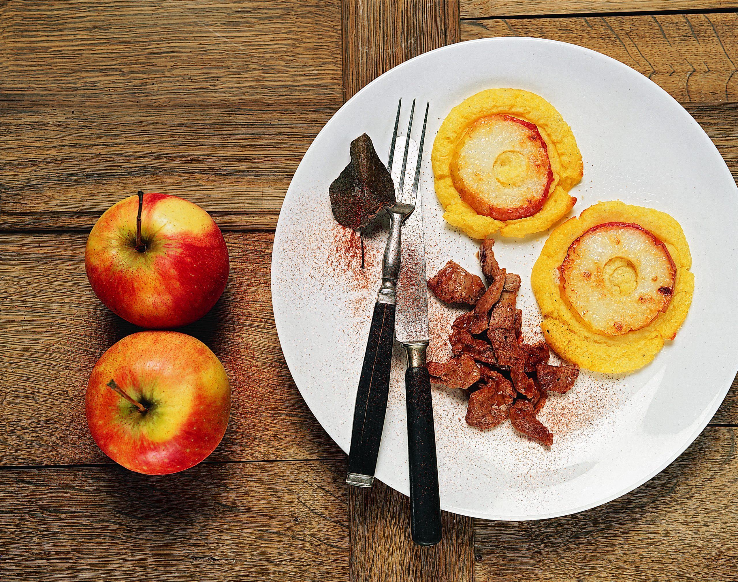 Pommes reinette et pommes mousseline