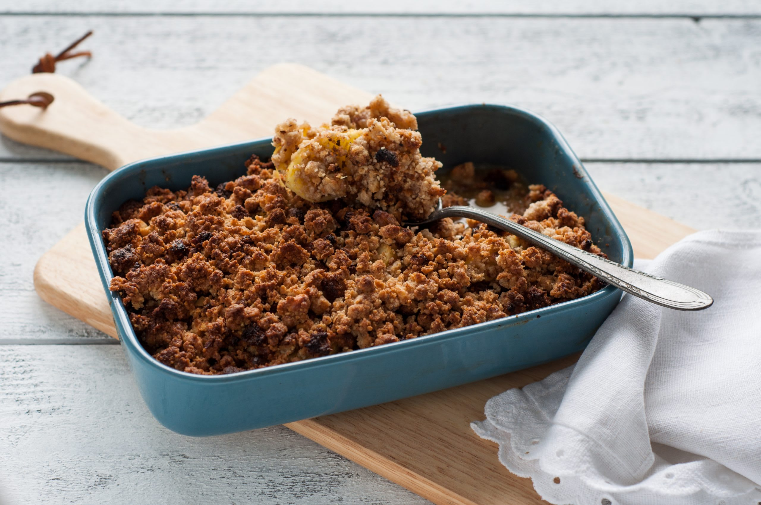 Apfel-Nuss-Crumble mit Orange