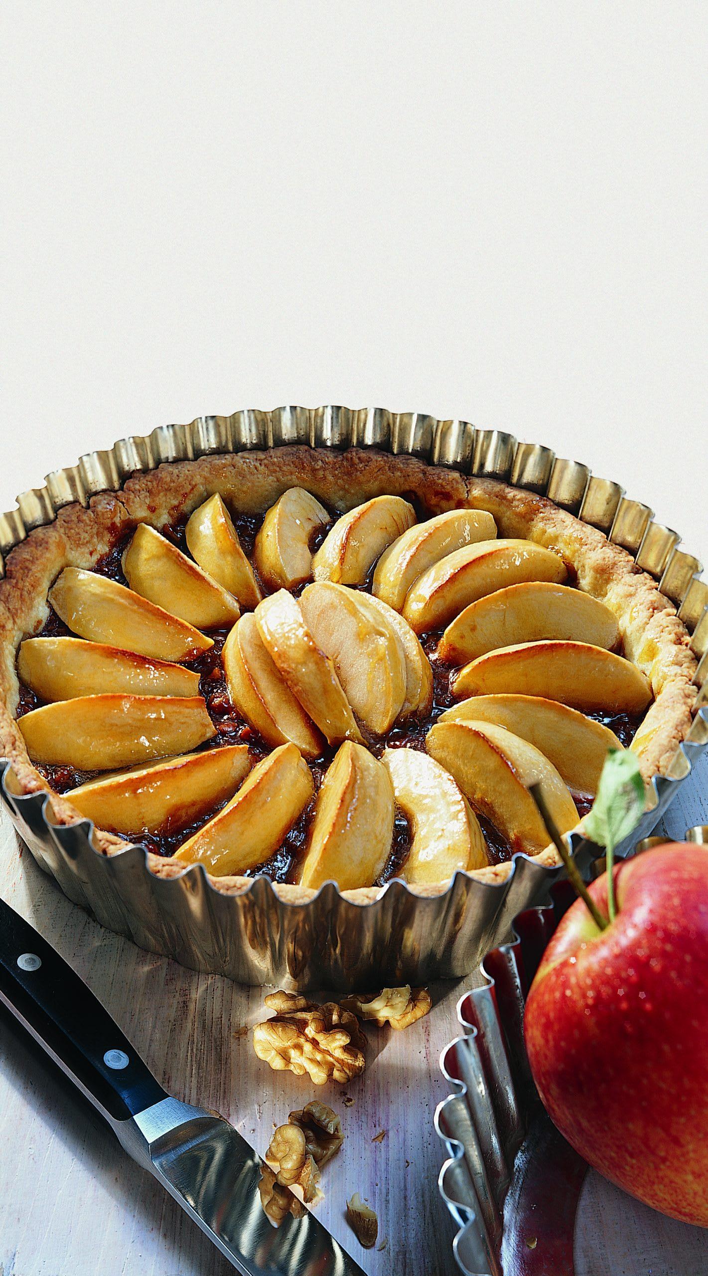 Tarte aux pommes et aux noix