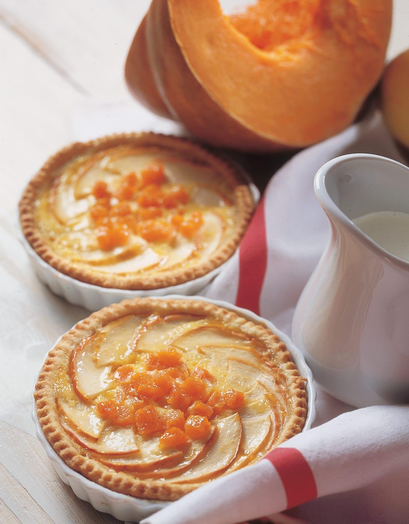Apfel-Tartelettes mit Kürbis