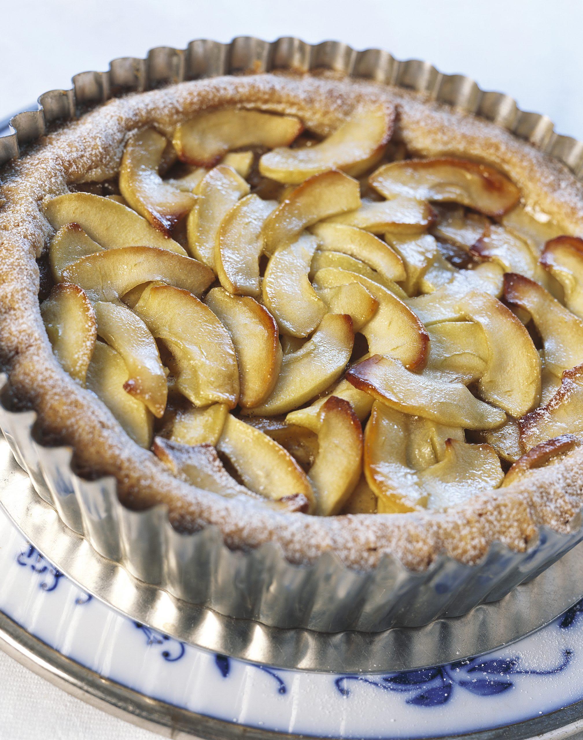 Tarte aux pommes vanillées
