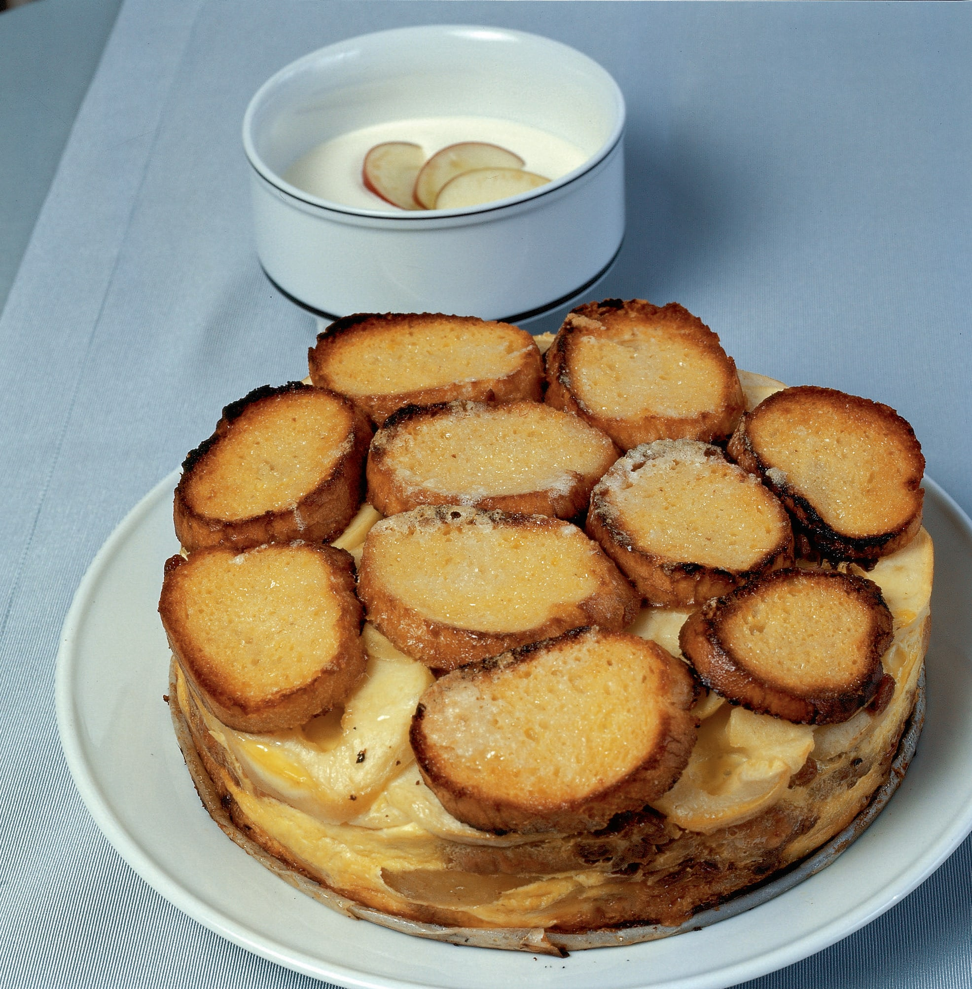 Gratin de pommes au séré à la vanille
