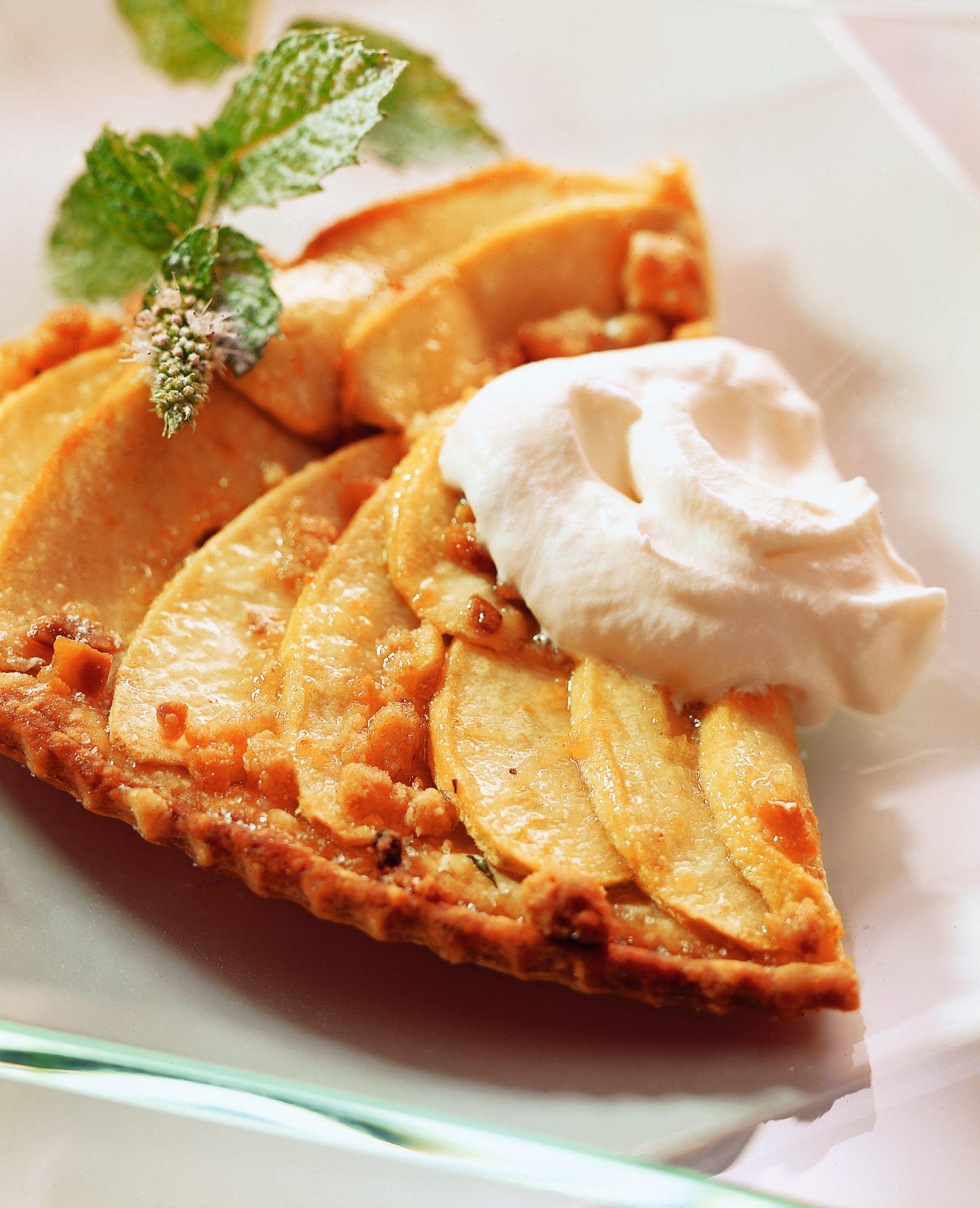 Tarte aux pommes (avec crumble au miel)