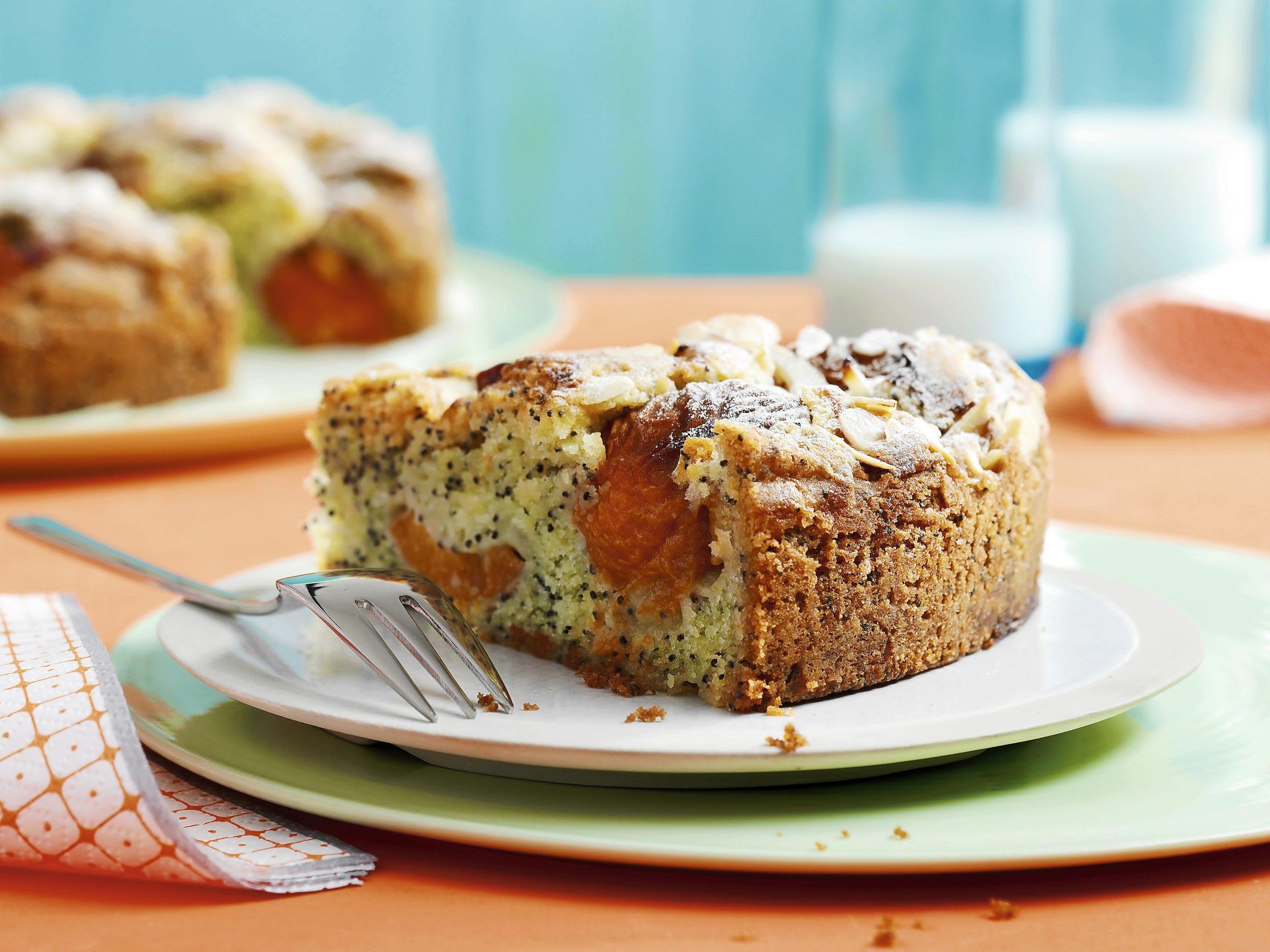 Gâteau aux graines de pavot et aux abricots