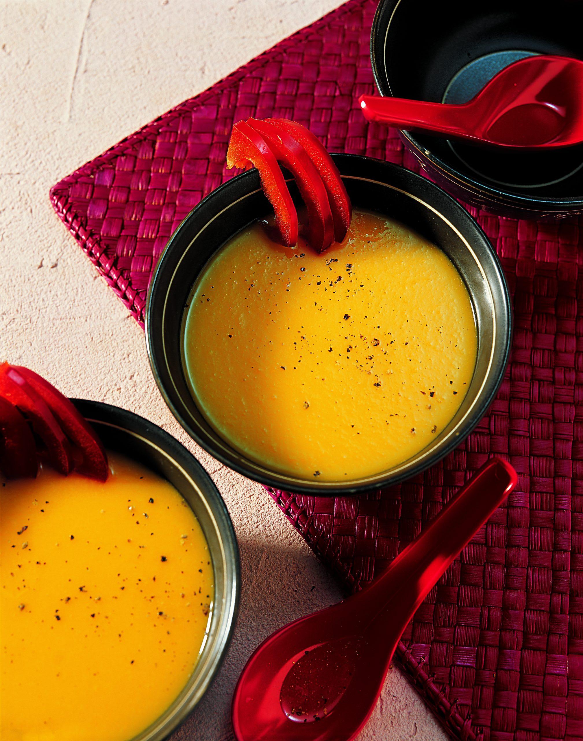 Crème aux abricots et aux poivrons