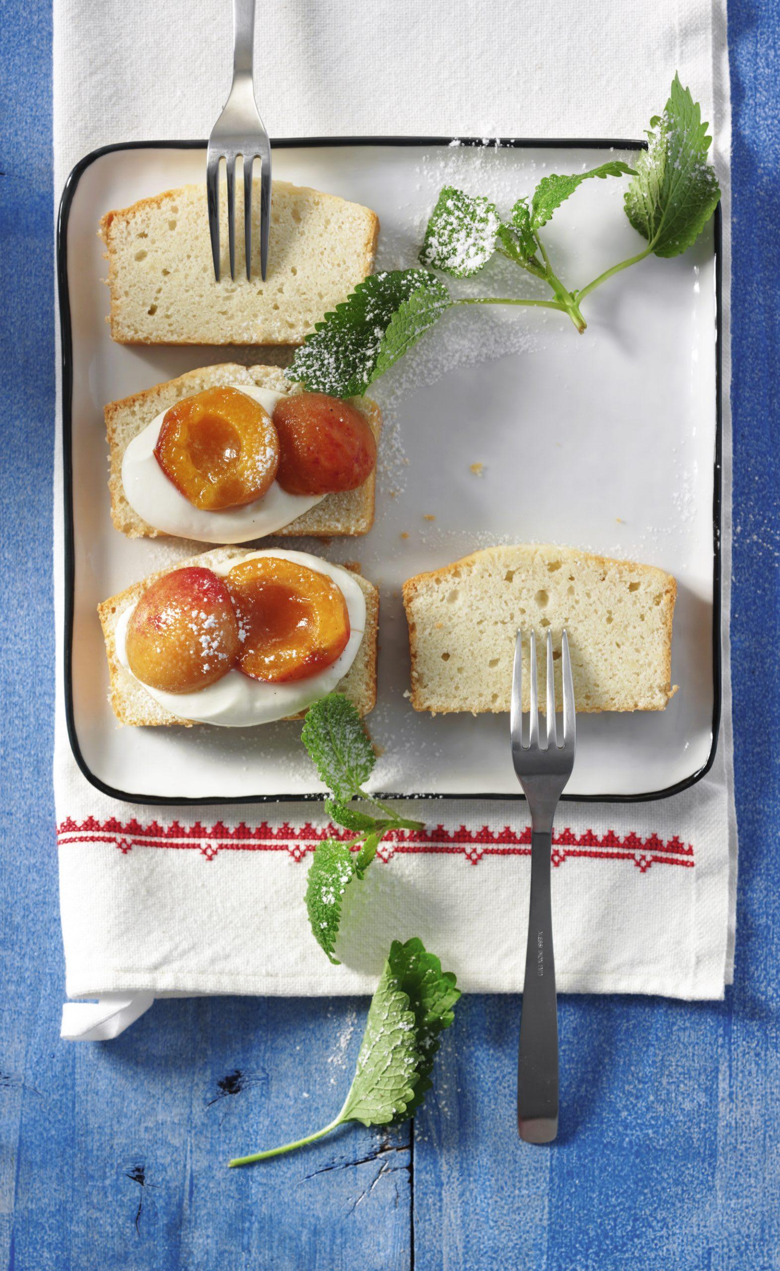 Aprikosen-Quark-Schnittchen