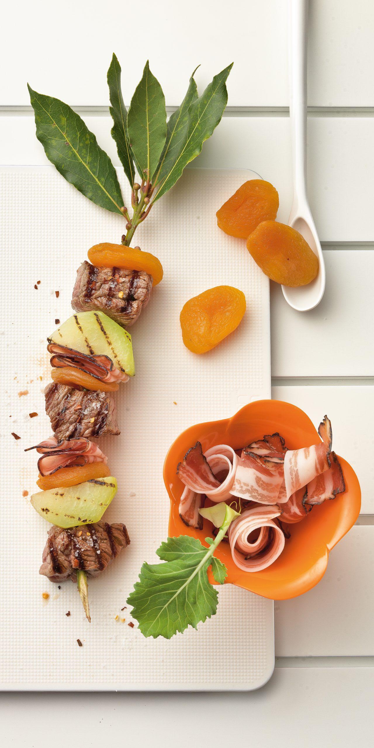 Brochettes de boeuf aux abricots