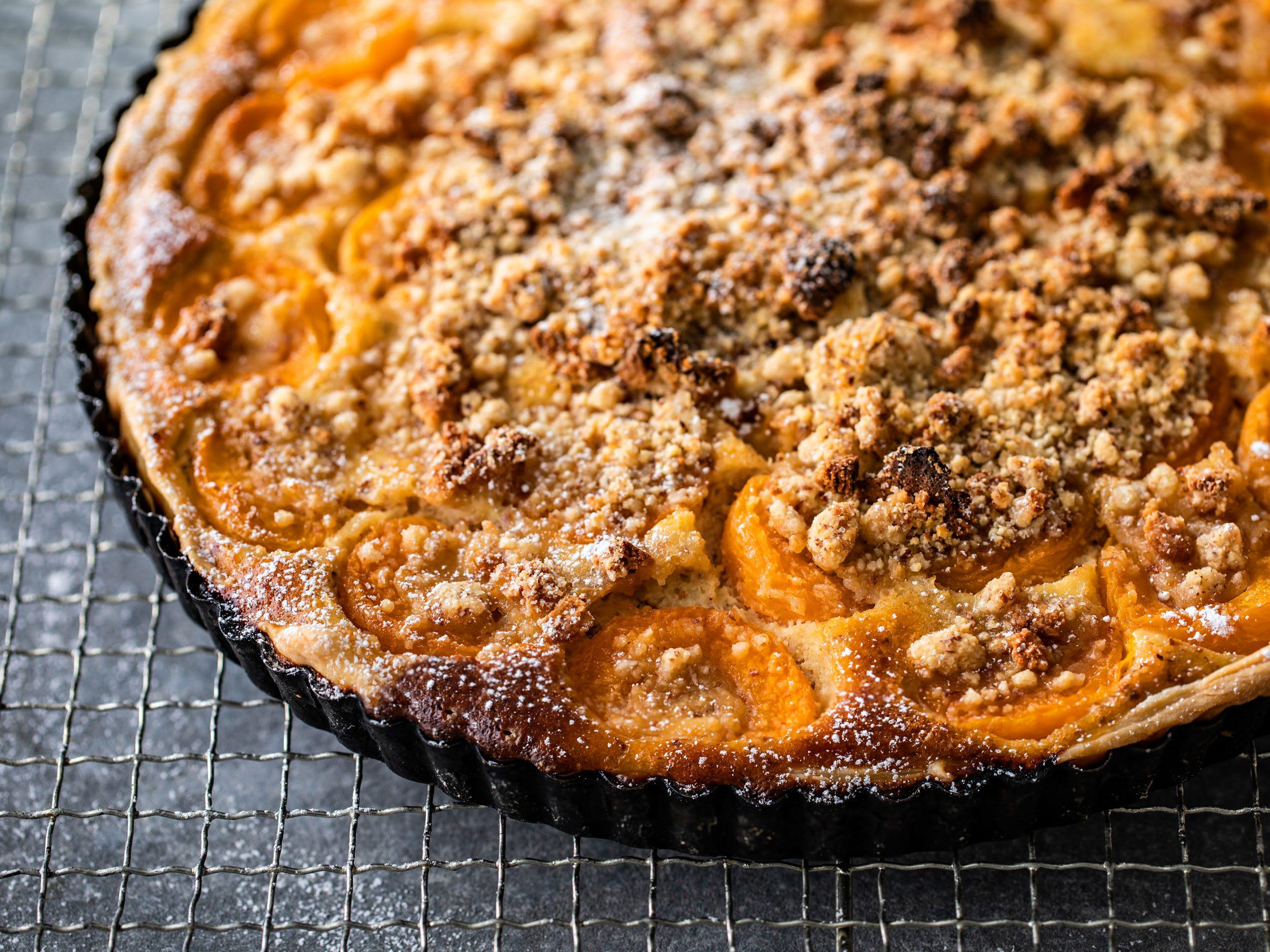 Tarte aux abricots avec streusel