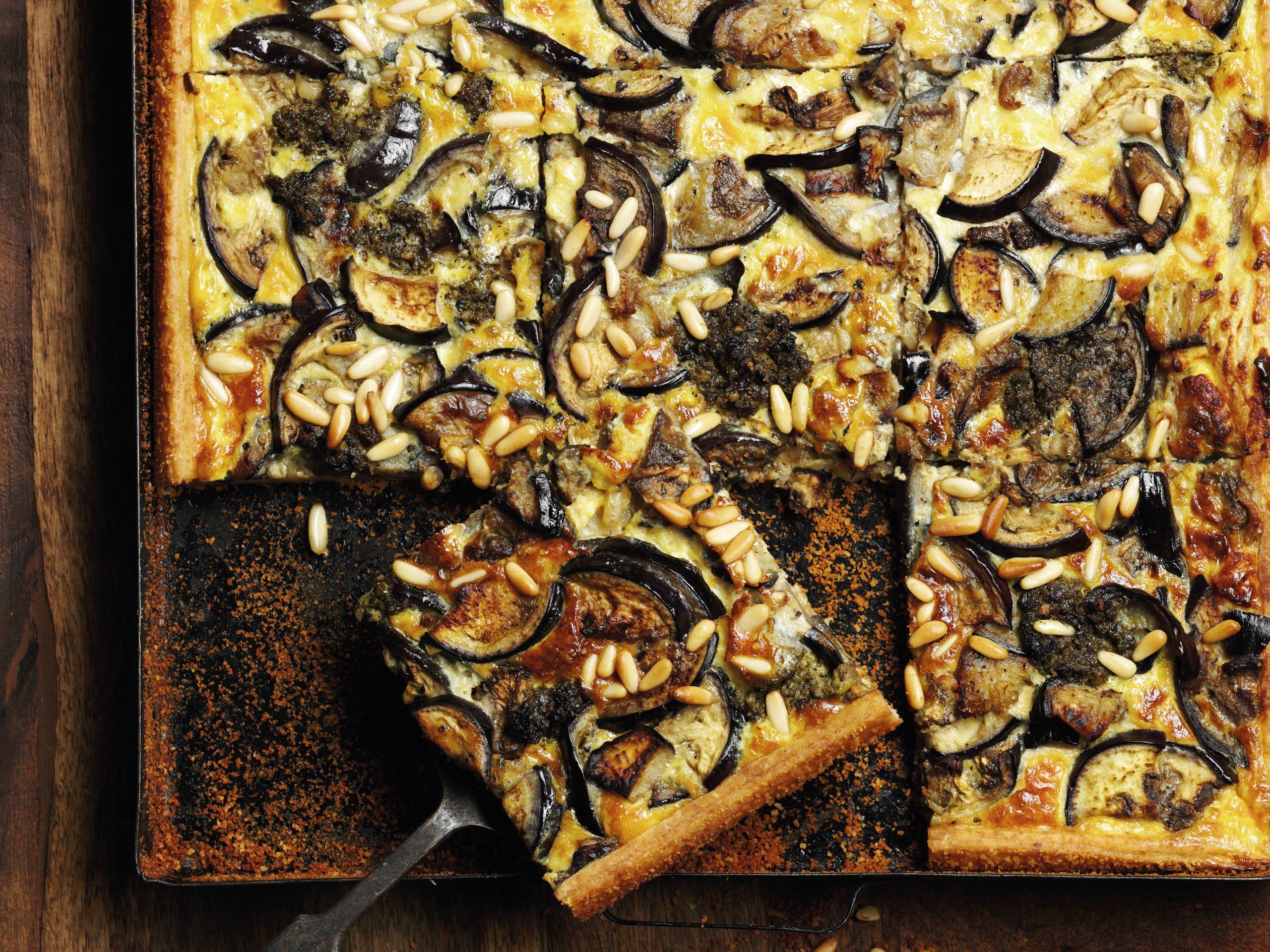 Auberginen-Pesto-Wähe