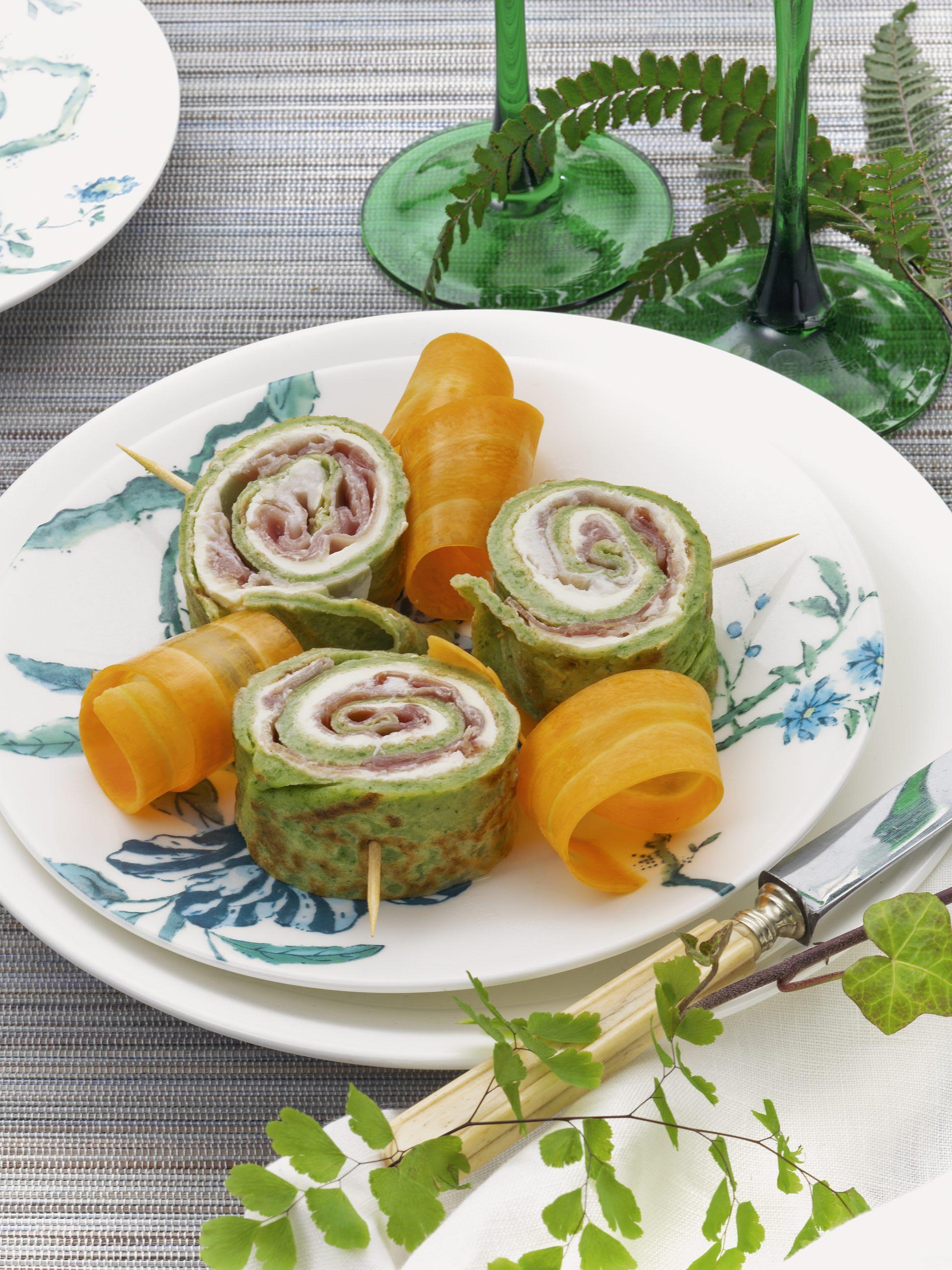Escargots à l'ail des ours et rubans de carottes